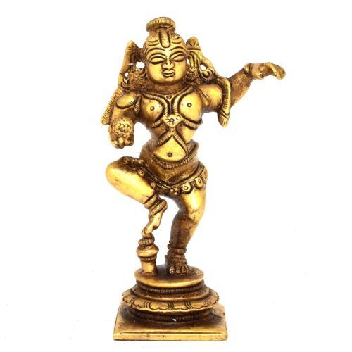 brass krishna dancing