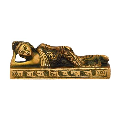 brass buddha sleeping