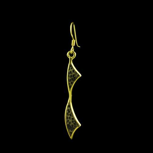 GOLD PLATED ROSEHOOD HANGING EARRINGS