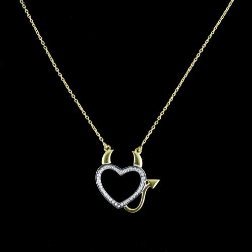 GOLD PLATED HEART SHAPED NECKLACES