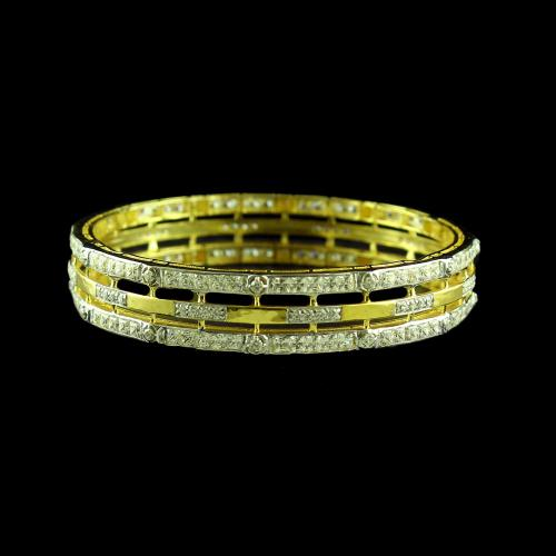 GOLD PLATED SWAROVSKI STONE BANGLE