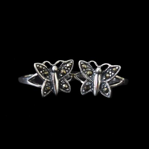 MARCASITE OXIDIZED SLIVER TOE RINGS