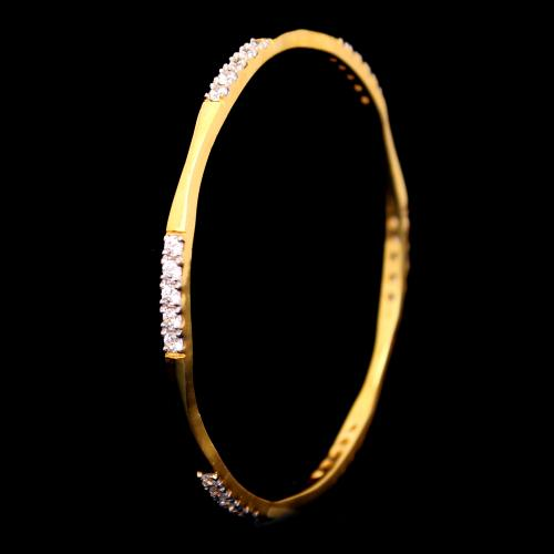 GOLD PLATED CZ STONE BANGLES
