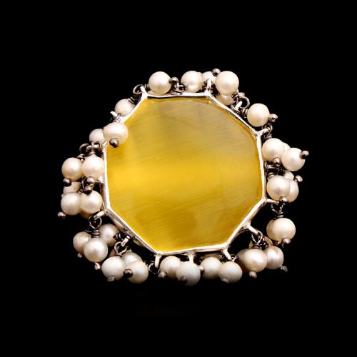 MONALISA RING WITH PEARLS