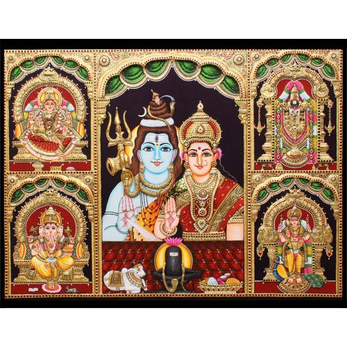 TANJORE PAINTING 5 IN 1 PANEL