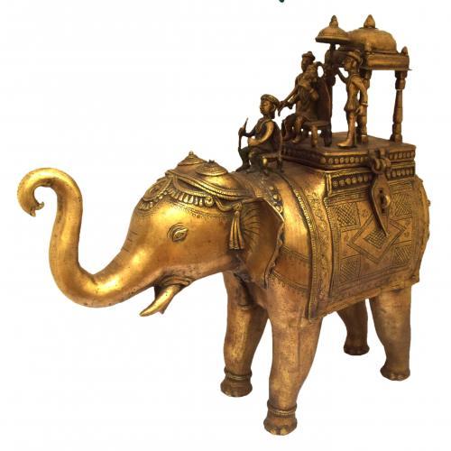 TIKAMGARH BRASS ELEPHANT BOX