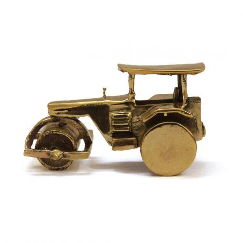 ROAD ROLLER SOLID BRASS MINIATURE TOY