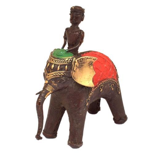 BASTAR ELEPHANT STANDING WITH MAN RIDER