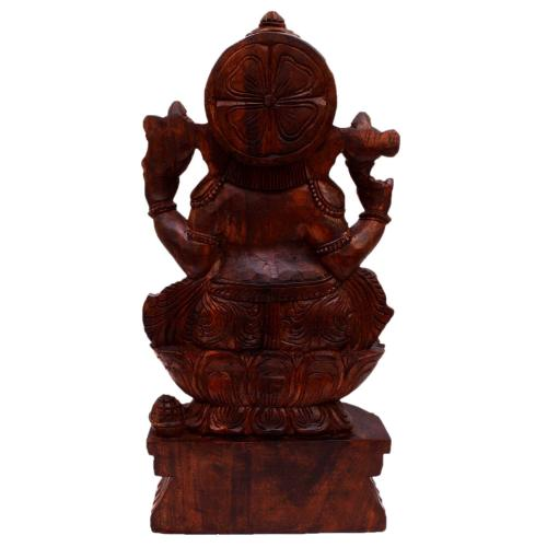 VAAGAI WOOD GANESHA SITTING
