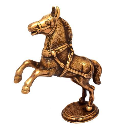 BRASS JUMPING HORSE