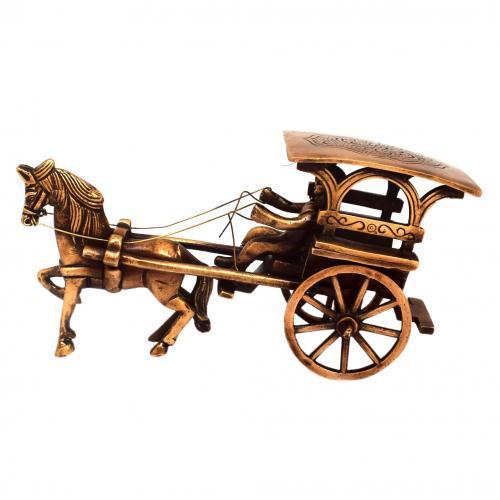 BRASS HORSE CART(TANGA)