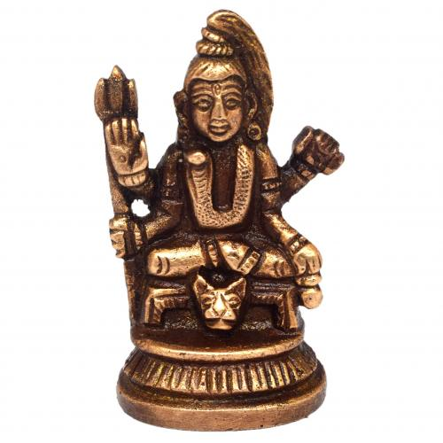 BRASS SHIVA SITTING 4 HANDS
