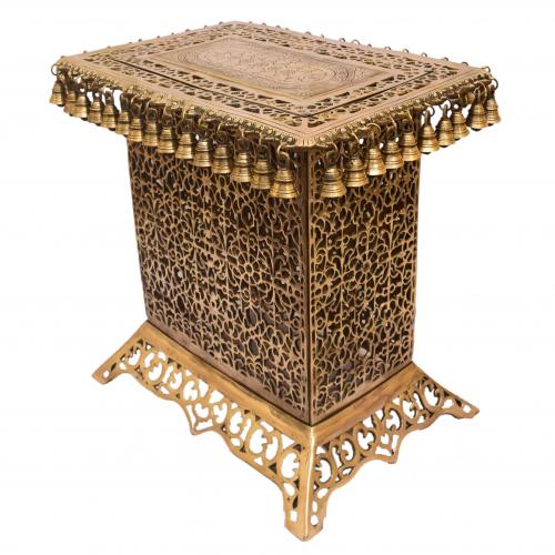 BRASS STOOL JALI WITH BELL