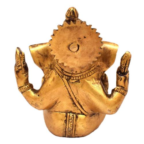 BRASS CROWN GANESHA