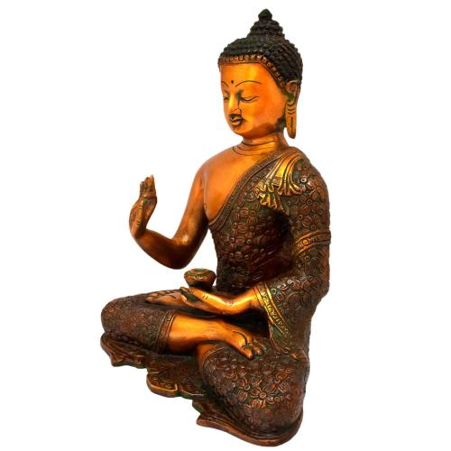 BRASS BUDDHA MEDITATION COPPER FINISH