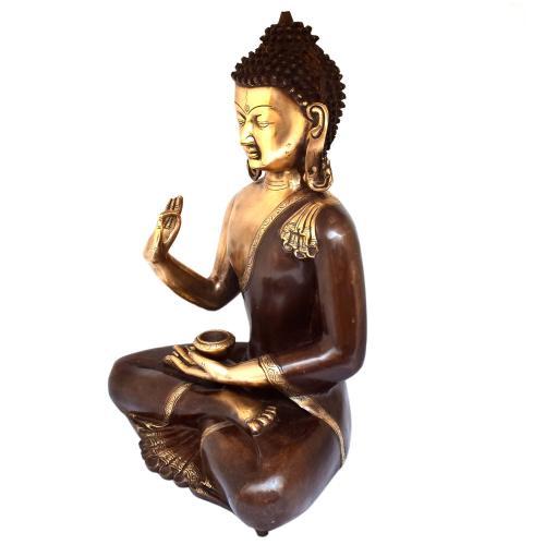 BRASS BUDDHA BLESSING ANTIQUE