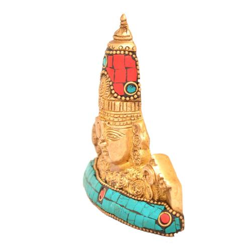 BRASS BALAJI FACE WALL HANGING WITH STONE WORK
