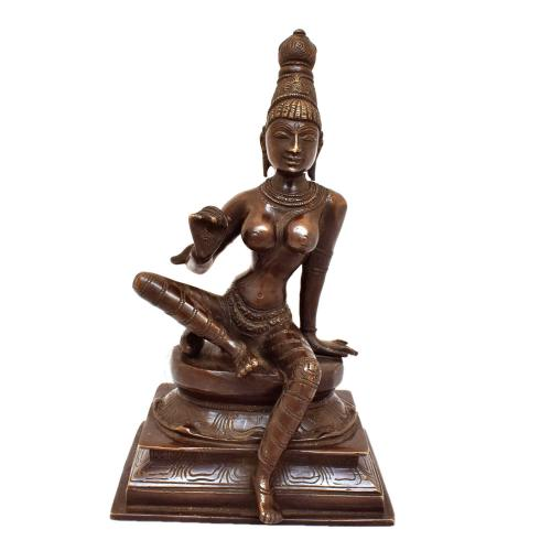 BRASS BHOG SAKTHI SITTING ON BASE ANTIQUE