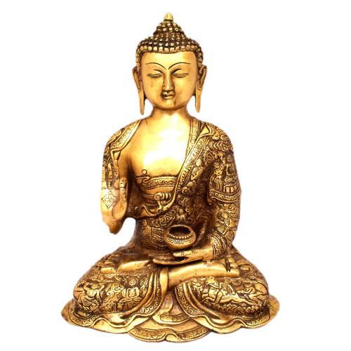 BRASS BASELESS BLESSING BUDDHA