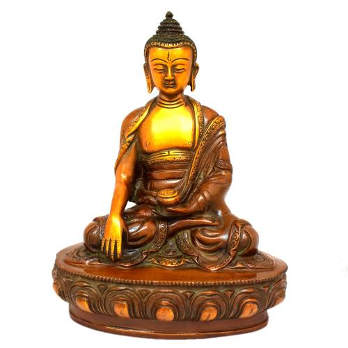 BRASS MEDITATION BUDDHA SITTING ON BASE