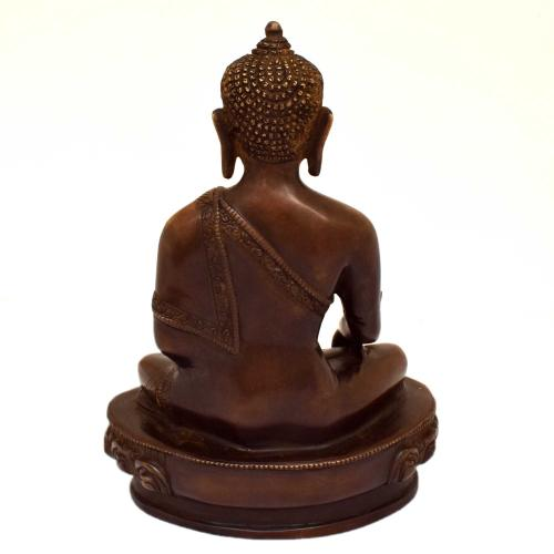 BRASS MEDICINE BUDDHA SITTING ON BASE