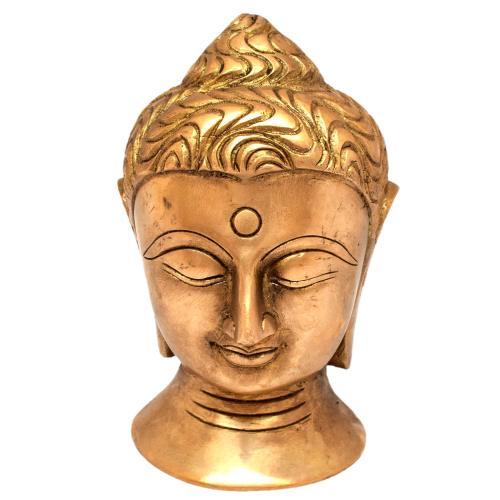 BRASS BUDDHA HEAD