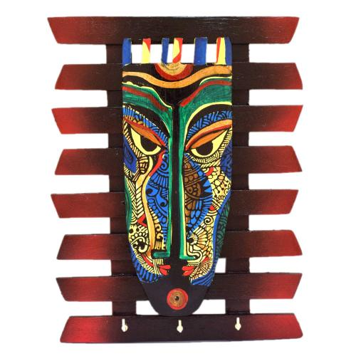 WALL HANGING KEY HOLDER ZIG ZAG MASK