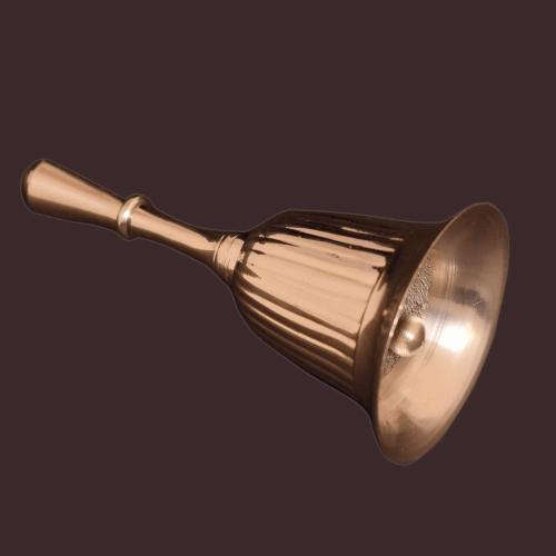 BRASS BELL WITH SILVER COATED