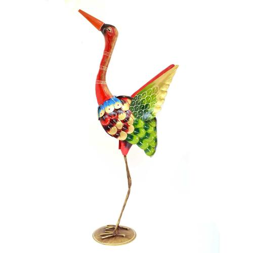 IRON COLOR PAINTED SWAN STANDING