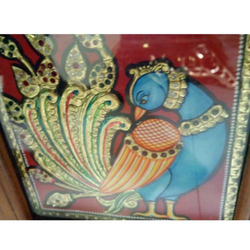 TANJORE PAINTING PEACOCK