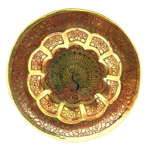 BRASS PEACOCK WALL PLATE
