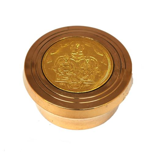 BRASS KUMKUM BOX ASHTA LAKSHMI