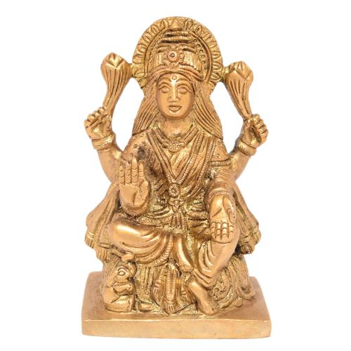 BRASS LAKSHMI SITTING