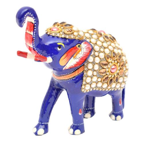 ELEPHANT CUTTING STONE PAINTED