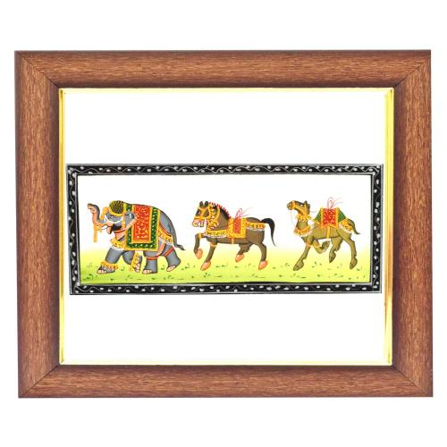SILK PAINTING PA ELEPHANT HORSE CAMEL