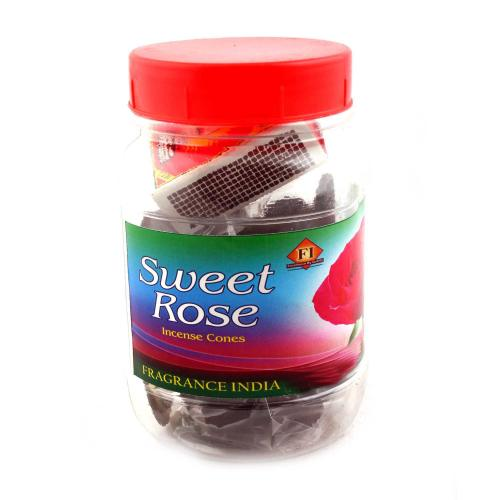 INCENSE ROSE FLAVOR CONES