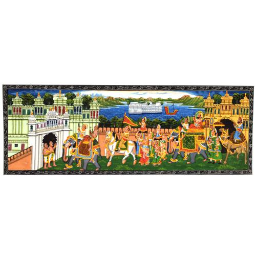 SILK PAINTING PA PALACE PROCESSION