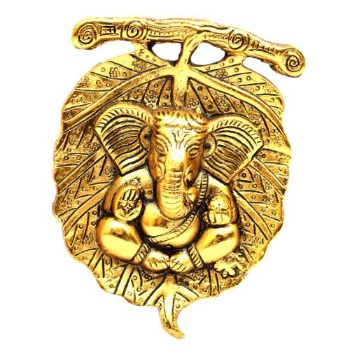 GANESHA LEAF WALL HANGING