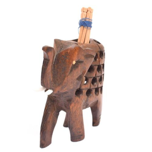 WOODEN ELEPHANT TOOTH PICK OXOD