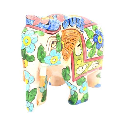 WOODEN ELEPHANT TRUNK DOWN