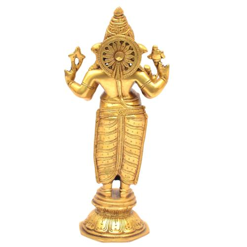 BRASS GANESHA STANDING ON BASE