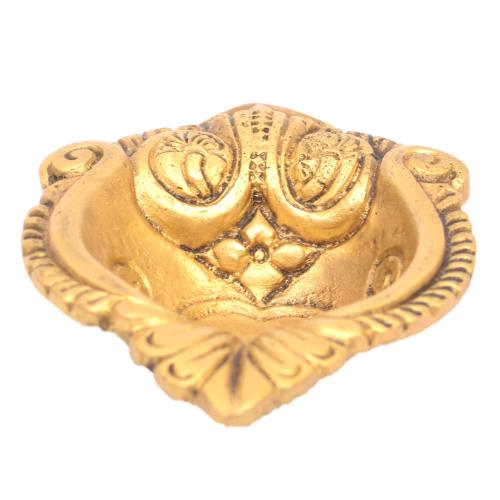 BRASS DIYA HEART DESIGN
