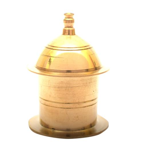 BRASS KUM KUM BOX MINAR SPECIAL SINGLE