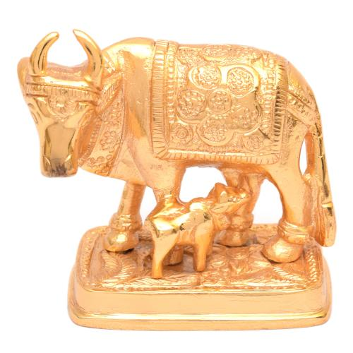 BRASS COW AND CALF STANDING