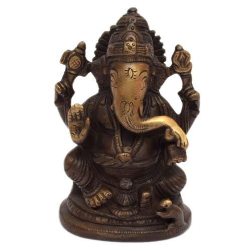 GANESHA SITTING ON OVAL BASE
