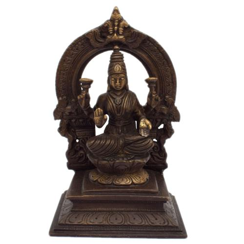 BRASS LAKSHMI SITTING ON SQ BASE