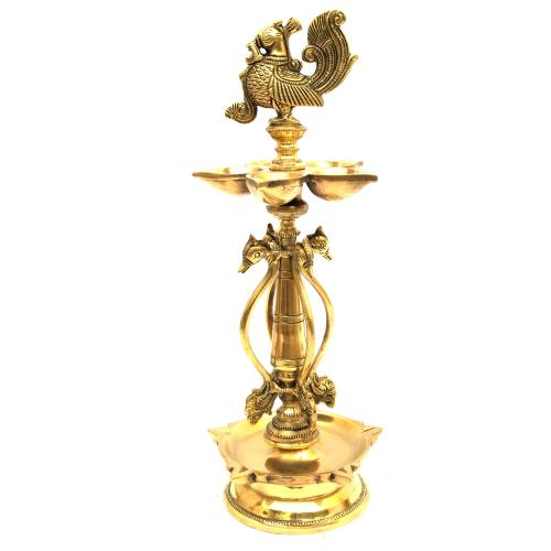 BRASS ANNAPAKSHI OIL LAMP
