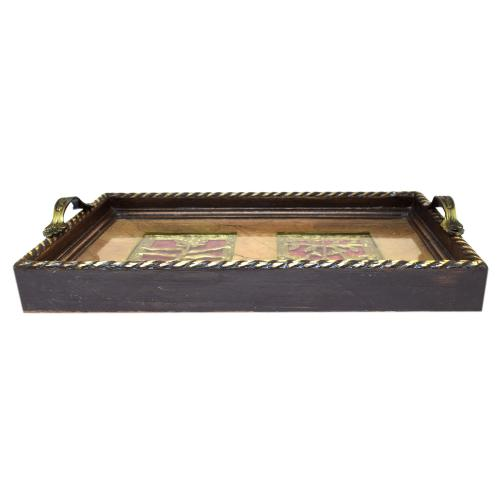 HANDCRAFTTED ETHNIC DHOKRA TRAY