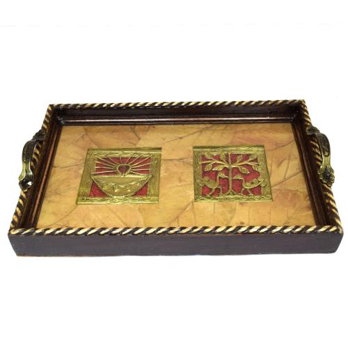 HANDCRAFTED ETHINC DHOKRA TRAY