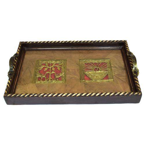 HANDCRAFTED ETHNIC DHIKRA  TRAY